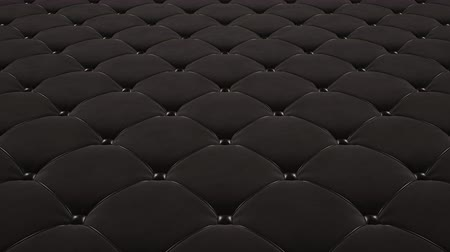 cobertor : 3D animation of the flight over a black quilted velvet surface with black drawstrings. Looped video. Vídeos