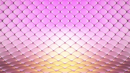 3D animation of pink quilted surface with beautiful highlights. Realistic animation of high quality. Looped video. Vídeos