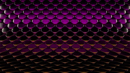 3D animation of purple quilted surface with beautiful highlights. Realistic animation of high quality. Looped video. Filmati Stock