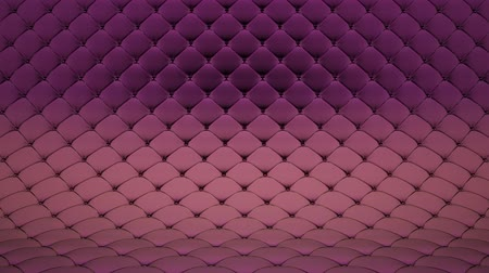 3D animation of pale pink quilted surface with purple shiny straps. Realistic animation of high quality. Looped video. Vídeos