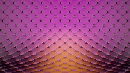 solene : 3D animation of pink quilted surface with beautiful metallic highlights. Realistic animation of high quality. Looped video.
