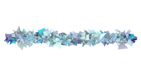 fraktály : 3d abstract blue spiked shape on white