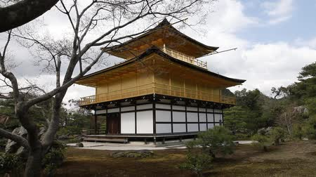 templom : Kinkakuji temple in spring, beautiful temple scenery, Kyoto Japan