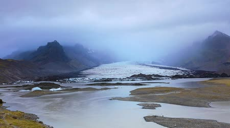 natural tranquil : Time lapse clip. Melting ice from Vatnajokull glacier in the same name National Park. Iceland, Europe. Full HD video (High Definition).