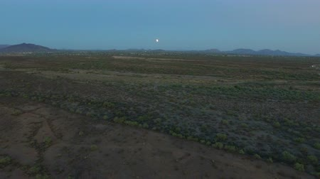 Sonoran Desert Aerial of Lunar Eclipse Wideo