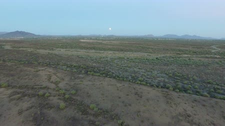 Sonoran Desert Aerial Towards Lunar Eclipse