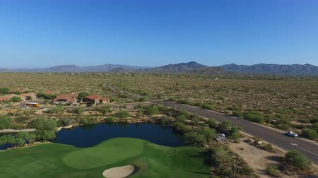поле для гольфа : Aerial Scottsdale Arizona Golf Course
