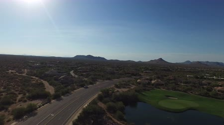 Aerial Scottsdale Arizona Golf Course 2 Wideo
