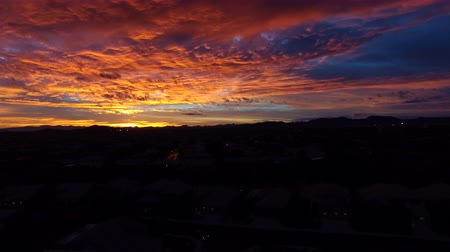 Rising Aerial of Colorful Arizona Sky