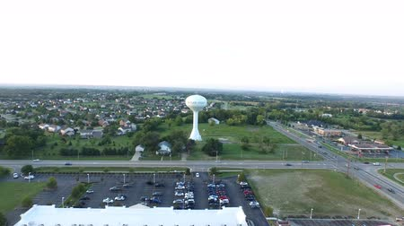 Aerial Suburban Ohio Water Tower Wideo