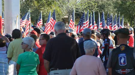 Phoenix, AZUSA – 11112017: Veterans Day Ceremony Crowd Close Up