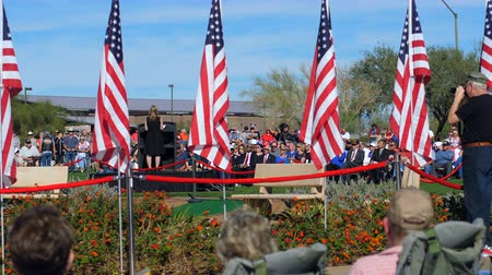Phoenix, AZ  USA – 11112017: Veterans Day Ceremony Speaker And Crowd
