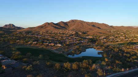 Aerial Arizona Golf Course Pull Back