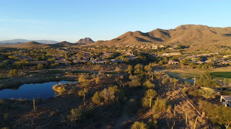 Aerial Arizona Golf Course Pan Right