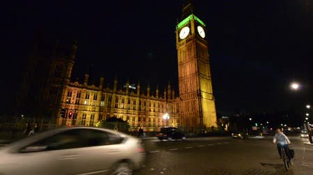 big ben : London Night Traffic Westminster
