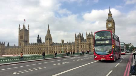 big ben : London - Westminster Double Decker Stock Footage