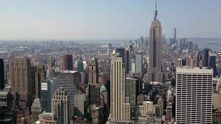 empire state building : New York panoramique Skyline Vidéos Libres De Droits