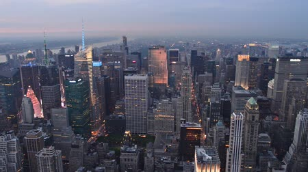 uitzicht op stad : New York City - Manhattan skyline Stockvideo
