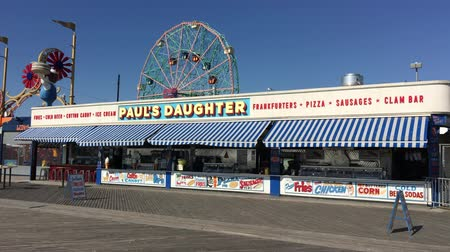 kerék : New York City - United States, October 2015. New York Coney Island ED Stock mozgókép