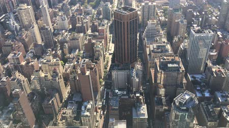 центральный : NEW YORK CITY, UNITED STATES - CIRCA OCTOBER 2015 NYC Midtown Manhattan Buildings Aerial View