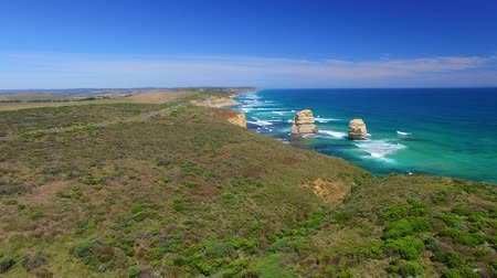 campbell : Australia. The Twelve Apostles at Dawn, Great Ocean Road, Victoria Stock Footage