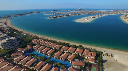 Jumeirah Palm Island, Dubai, UAE Stok Video
