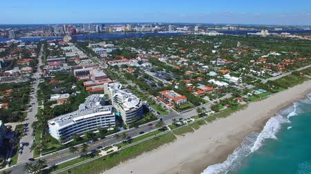 Palm Beach coastline in Florida. Aerial view - United States