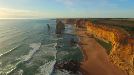 campbell : The Twelve Apostles at sunset, Port Campbell - Australia Stock Footage