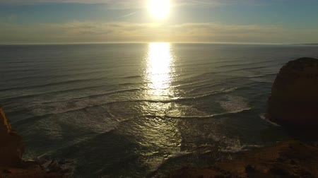 campbell : Aerial view of Twelve Apostles at sunset, Victoria - Australia