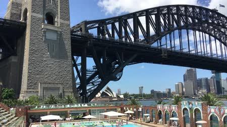 kirribilli : SYDNEY? NOVEMBER 2015: Panoramic view of Sydney Harbour from North Sydney Olympic Pool. The city attracts 10 million visitors annually