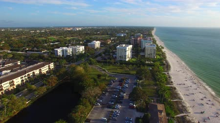 nápoles : Aerial view of Naples beach and skyline on a beautiful day