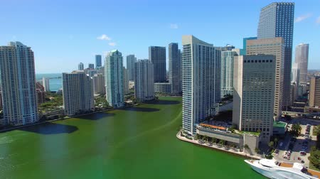 приморский : Aerial Downtown Miami skyline on a sunny day, all ads removed