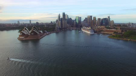 kirribilli : Aerial view of Sydney Harbour bridge at dawn