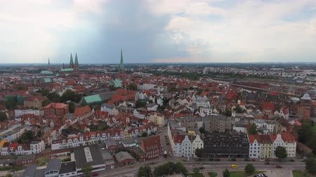 schleswig : Lubeck, Germany. Beautiful city aerial view