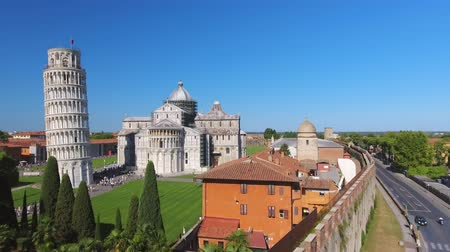 toscana : Pisa, Italy. Wonderful Aerial view of Square of Miracles on a sunny summer morning