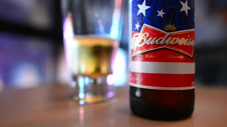 vysvětlující : NEW YORK CITY - JUNE, 2013: Bottle of Budweiser. From Anheuser-Busch InBev, Budweiser is one of the top selling domestic beers in the United States