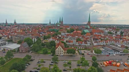 lubeck : Aerial view Lubeck, Germany
