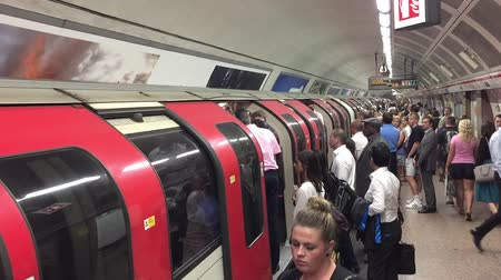mind the gap : LONDON - MAY 2015: Inside view of London underground in London, UK. Londons system is the oldest underground railway in the world, dating back to 1863