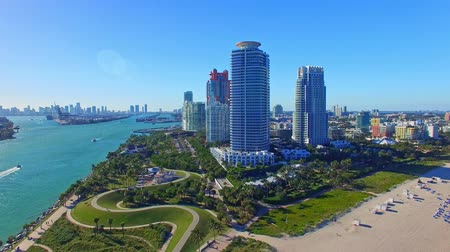 luksus : Miami, Florida. Aerial view of South Beach and Downtown