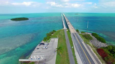 sete : Aerial view of the Florida Keys Overseas Highway Bridge