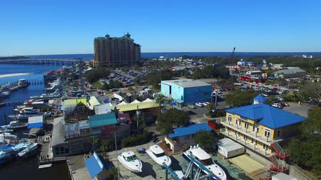 Aerial view skyline of Destin, Florida Stok Video
