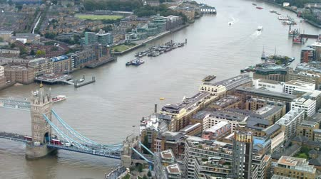 London ,. Tower Bridge and River Thames aerial view