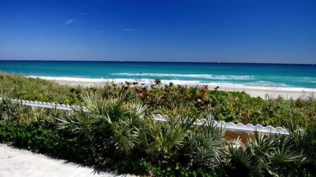 Pam Beach coastline, beautiful view of Florida