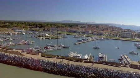 Port of Marina di Pisa, aerial view