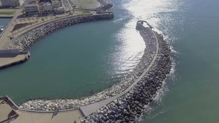 Sea port entrance, aerial view