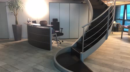 Modern staircase of office interior