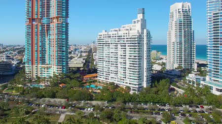 sul : Miami Beach panoramic aerial view from South Pointe
