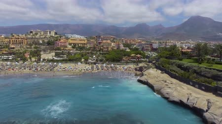 tyrkysový : El Duque Beach in Tenerife, aerial view