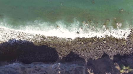 beautiful view : Overhead view of Los Gigantes in Tenerife coastline Stock Footage