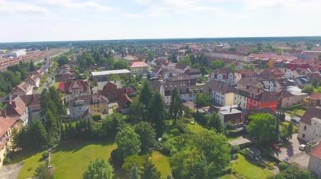 sıva : Aerial panoramic view of skyline Celle, Germany